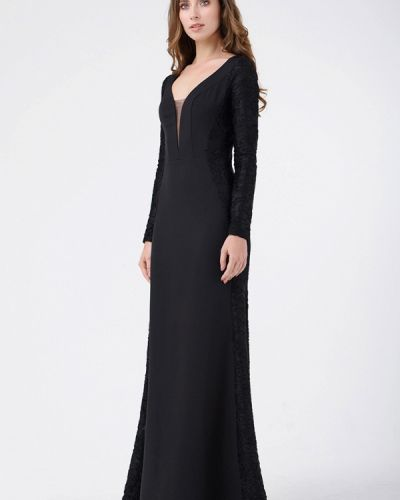 Черное платье осеннее Ricamare