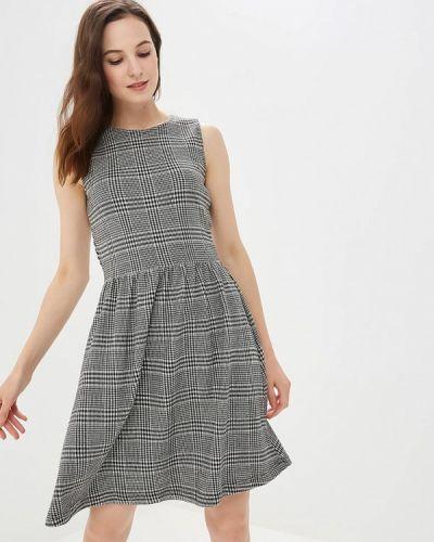 Серое платье осеннее Only