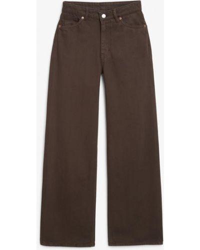 Широкие джинсы с завышенной талией - коричневые Monki