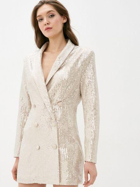 Платье платье-пиджак серебряный Soky & Soka