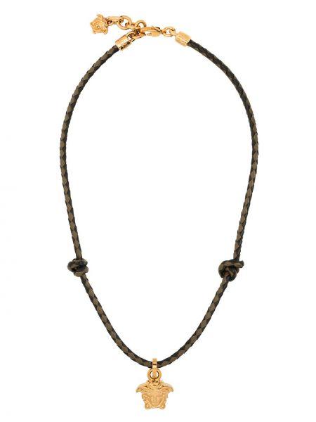 Czarny naszyjnik łańcuch Versace