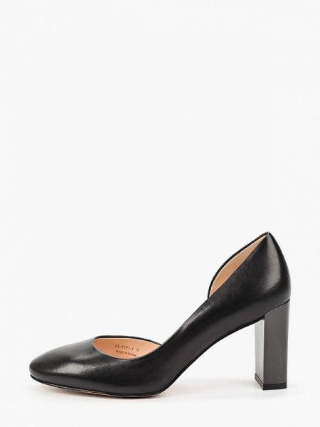 Кожаные туфли черные осенние Pazolini
