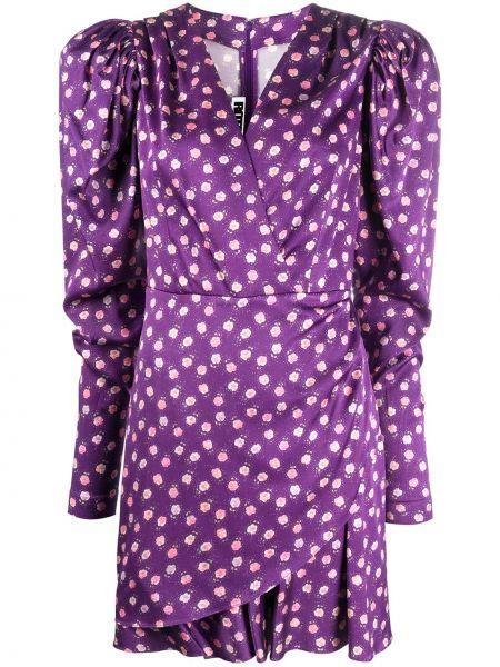 Платье макси с цветочным принтом через плечо Rotate