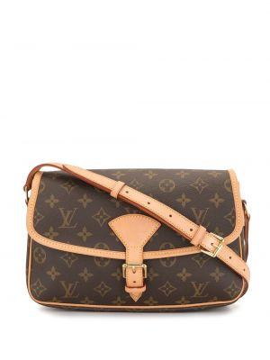 Кожаная коричневая сумка через плечо винтажная Louis Vuitton
