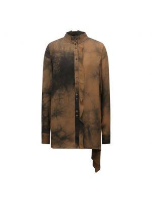 Шелковая блузка - коричневая Isabel Benenato