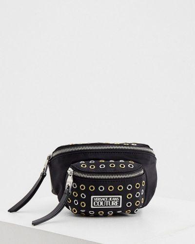 Джинсовая поясная сумка - черная Versace Jeans Couture
