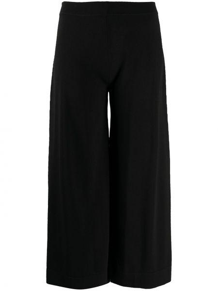 Расклешенные черные брюки с поясом D.exterior