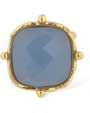 Niebieski złoty pierścionek Sylvia Toledano