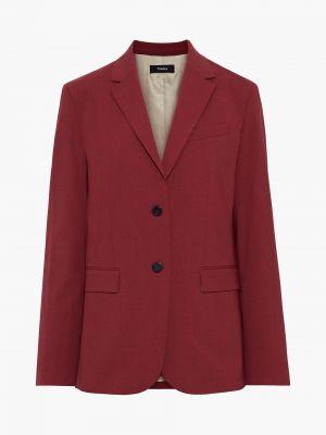 Шерстяной малиновый пиджак с карманами Theory