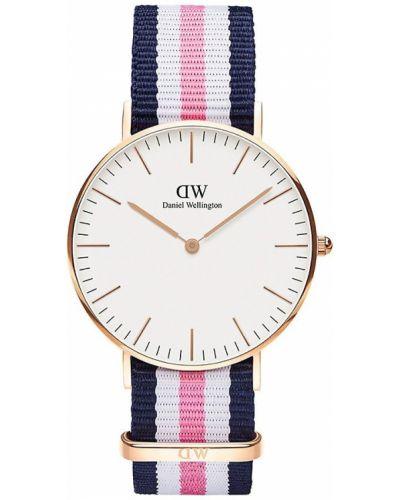 Biały klasyczny zegarek kwarcowy srebrny Daniel Wellington