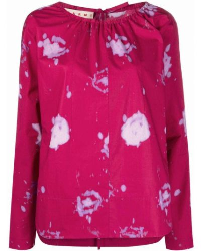 Розовая блузка с манжетами Marni