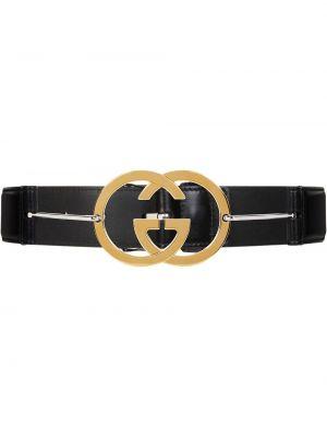 Złoty pasek - czarny Gucci