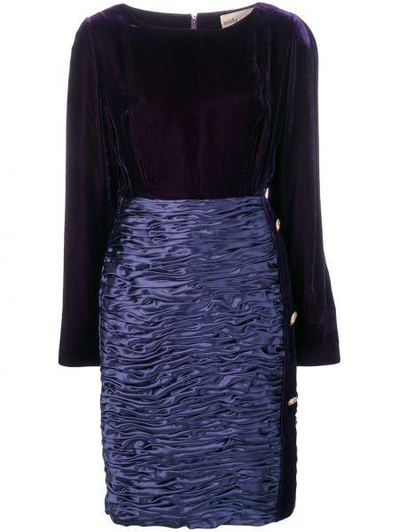 Фиолетовое платье винтажное Mila Schon Vintage