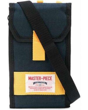 Желтая нейлоновая сумка на плечо Master Piece