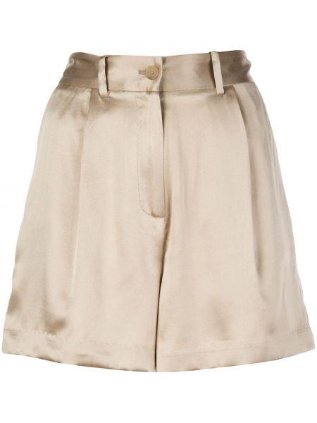 Однобортные шелковые шорты с карманами Nili Lotan