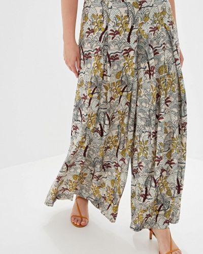 Свободные брюки расклешенные весенний Helmidge