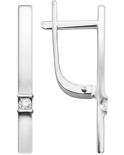 Золотые серьги английский серебряный Vesna Jewelry
