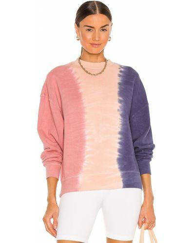 Розовый хлопковый пуловер свободного кроя Spiritual Gangster