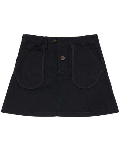 Bawełna bawełna czarny spódnica z kieszeniami Infantium Victoria
