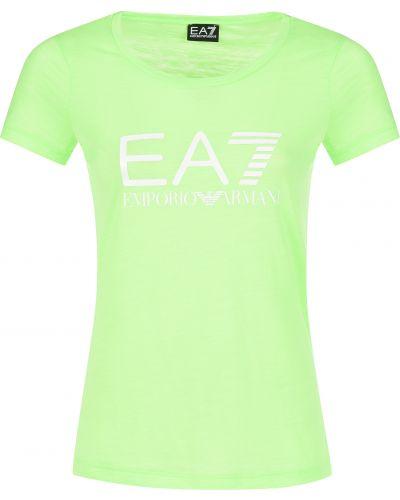 Футболка зеленый Ea7 Emporio Armani