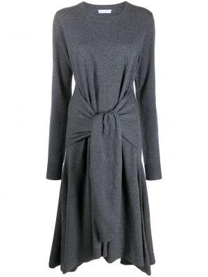 Шерстяное серое платье А-силуэта Jw Anderson