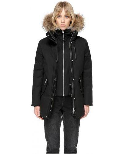 Czarny płaszcz casual Mackage