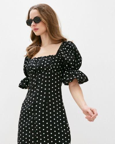 Прямое черное платье Missguided