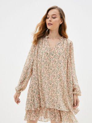 Прямое платье - бежевое Mbym
