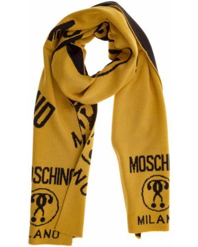 Żółty szalik Moschino