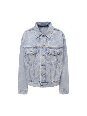 Хлопковая джинсовая куртка - голубая Denim X Alexander Wang