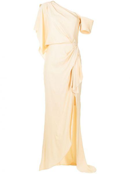 Вечернее платье длинное - желтое Manning Cartell