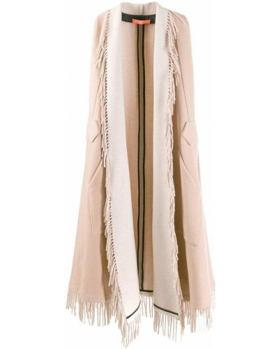 Розовое шерстяное пальто без рукавов Smarteez