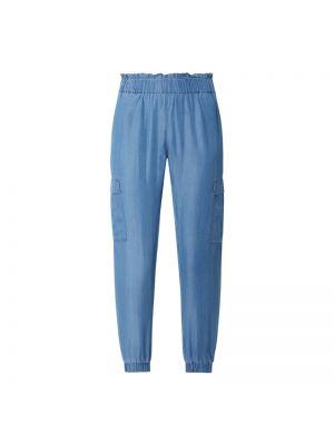 Niebieskie spodnie materiałowe Soyaconcept