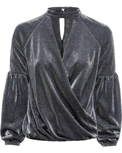 Блузка с люрексом с манжетами Bonprix