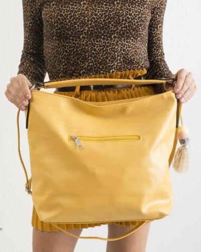 Żółta torebka skórzana miejska Merg