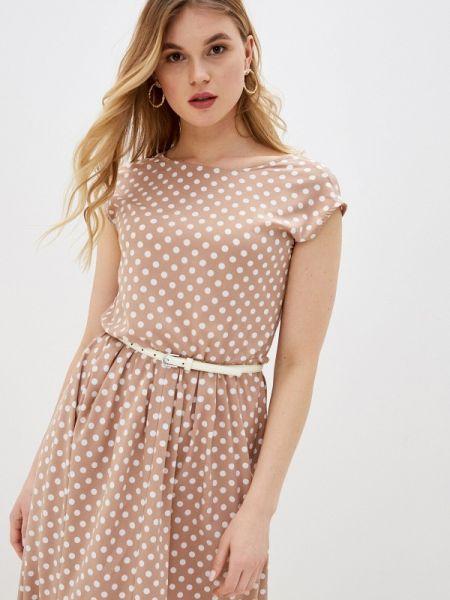 Повседневное платье бежевое весеннее Aelite