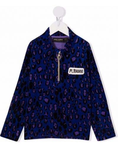 Niebieska bluza bawełniana Mini Rodini