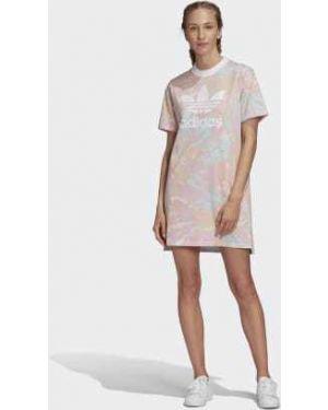 Джинсовое платье футболка с поясом Adidas