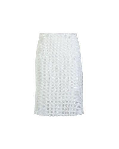 Повседневная белая юбка миди Armani Jeans