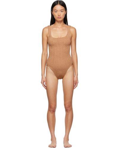 Brązowy strój kąpielowy Hunza G
