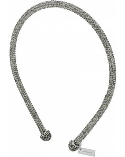 Серый ободок с глиттером Etro