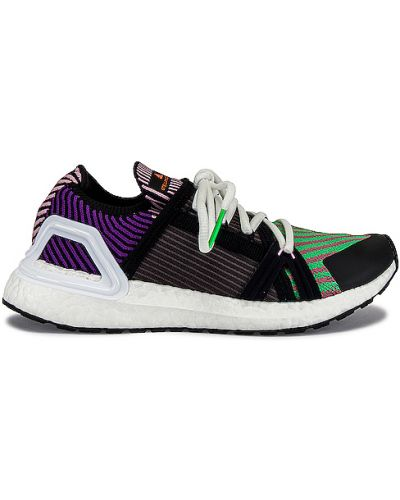 Koronkowa czarny wysoki sneakersy na sznurowadłach na pięcie Adidas By Stella Mccartney
