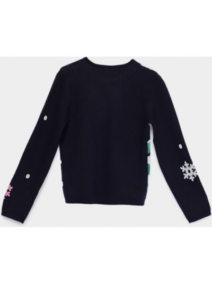 Пуловер - синий Billieblush