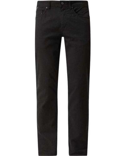 Czarne spodnie bawełniane Montego