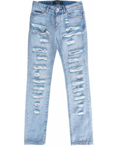 Прямые джинсы немецкие с заклепками Philipp Plein
