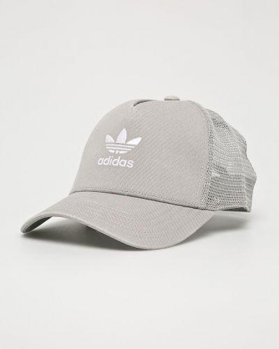 Серая шапка хлопковая Adidas Originals