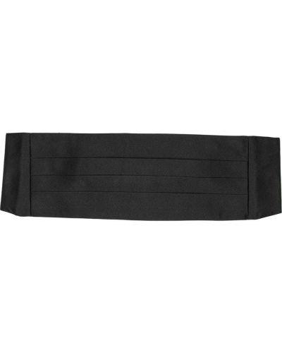 Плиссированный черный шелковый камербанд Ralph Lauren