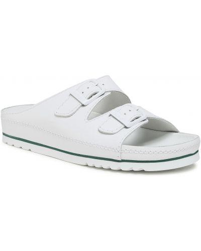 Białe sandały skorzane Scholl