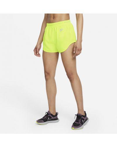 Желтые шорты для фитнеса для бега Nike