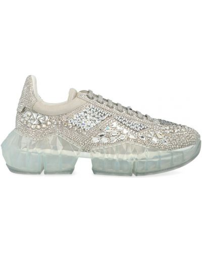 Sneakersy - białe Jimmy Choo